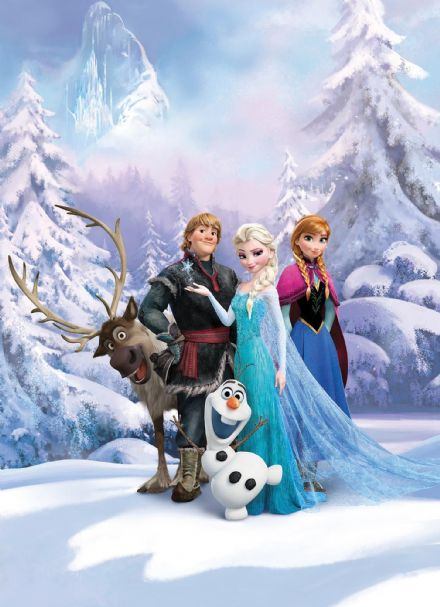 Frozen Winter Land wallpaper mural Disney